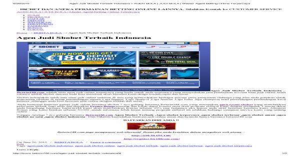 berita yang ada di situs sbobet